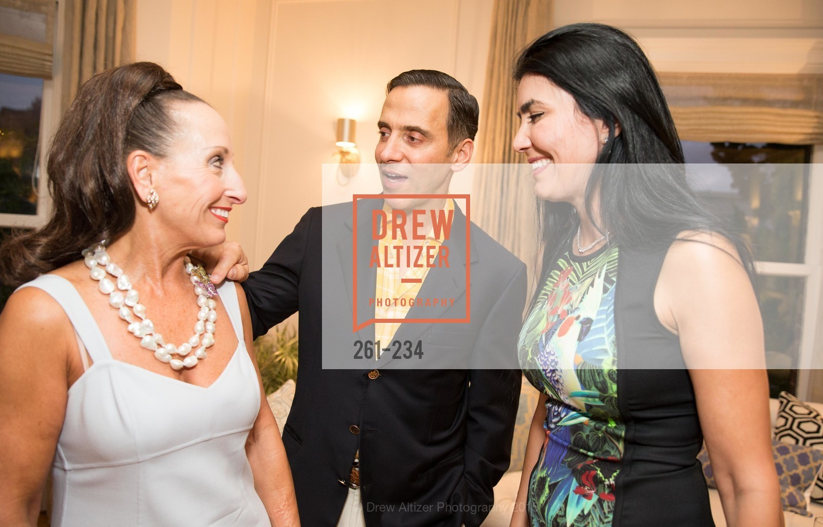 Toni Wolfson, Alan Malouf, Afsaneh Akhtari, San Francisco Opera Ball 2015 Patron Party, Private Residence, August 19th, 2015,Drew Altizer, Drew Altizer Photography, full-service agency, private events, San Francisco photographer, photographer california