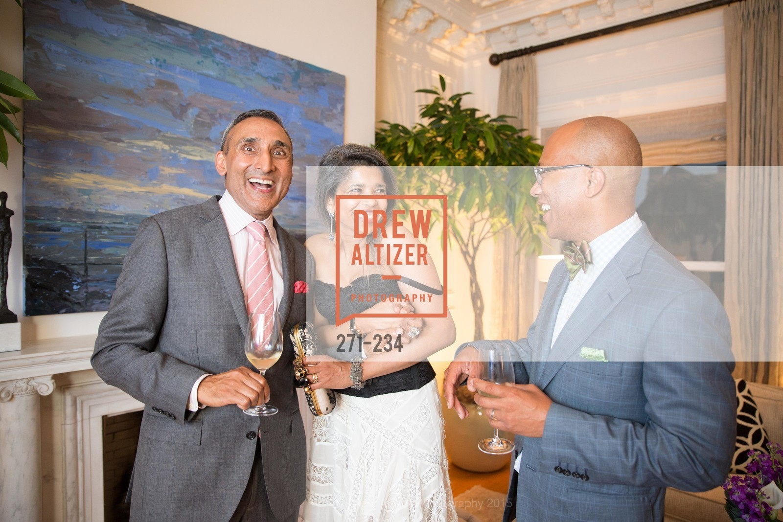 Inder Dhillon, Deepa Pakianathan, Ken McNeely, San Francisco Opera Ball 2015 Patron Party, Private Residence, August 19th, 2015,Drew Altizer, Drew Altizer Photography, full-service agency, private events, San Francisco photographer, photographer california
