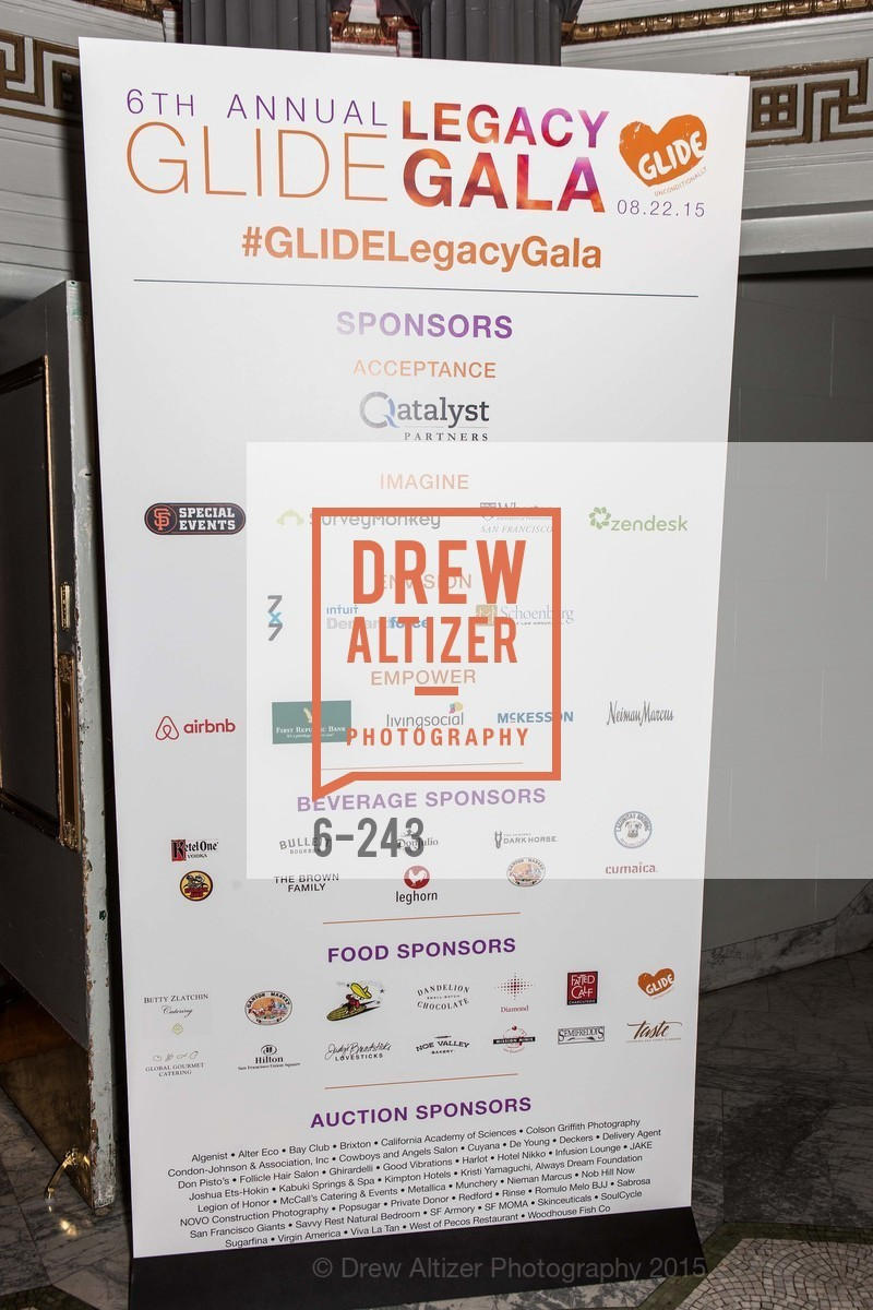 Atmosphere, 6TH ANNUAL GLIDE LEGACY GALA, The Regency Ballroom. 1300 Van Ness Ave, August 22nd, 2015,Drew Altizer, Drew Altizer Photography, full-service agency, private events, San Francisco photographer, photographer california