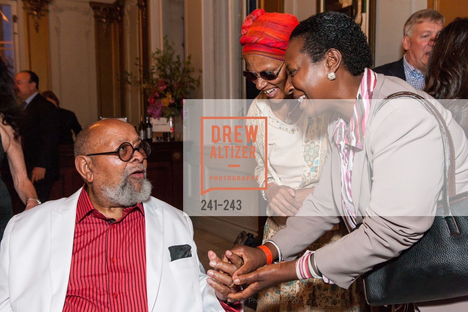 Cecil Williams, Rosemarie, Fafi Wa Nairobi, 6TH ANNUAL GLIDE LEGACY GALA, The Regency Ballroom. 1300 Van Ness Ave, August 22nd, 2015,Drew Altizer, Drew Altizer Photography, full-service agency, private events, San Francisco photographer, photographer california