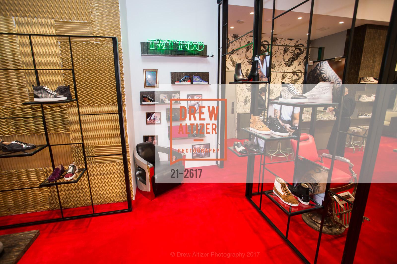 nouveau produit 93cb8 32dff Atmosphere at Christian Louboutin at his San Francisco Boutique