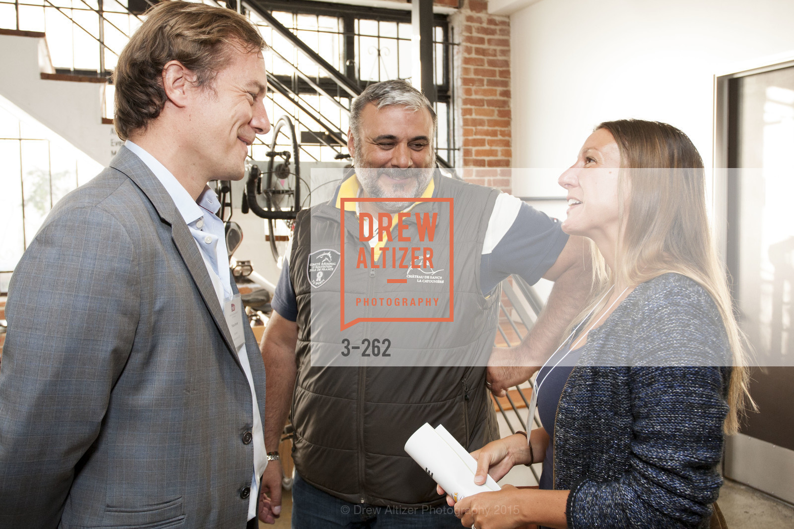 Thibaut Munier, Christophe Goudy, Anne DeGenne, Inauguration of SNCF Innovation Lab, 169 11th St, August 26th, 2015,Drew Altizer, Drew Altizer Photography, full-service agency, private events, San Francisco photographer, photographer california