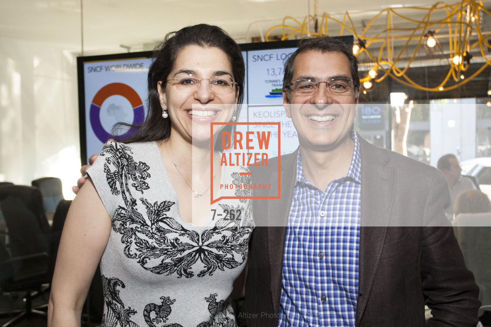 Nadine Kriesberger, Vijay Sondhi, Inauguration of SNCF Innovation Lab, 169 11th St, August 26th, 2015,Drew Altizer, Drew Altizer Photography, full-service agency, private events, San Francisco photographer, photographer california