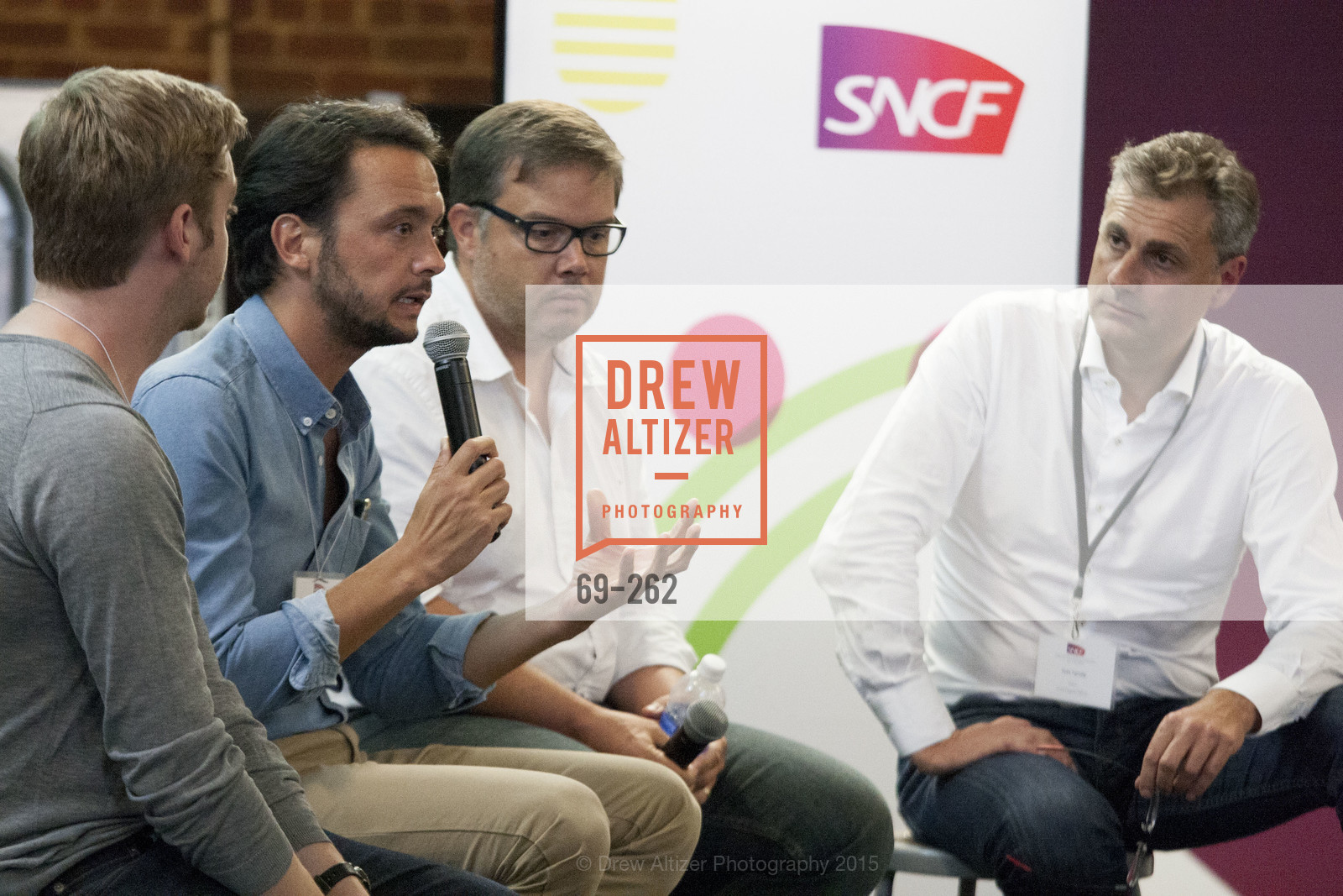 Baptiste Manson, Florent Peyre, Gregory Renard, Yves Tyrode, Inauguration of SNCF Innovation Lab, 169 11th St, August 26th, 2015,Drew Altizer, Drew Altizer Photography, full-service agency, private events, San Francisco photographer, photographer california