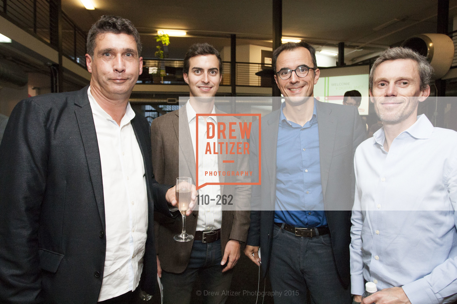 Dominique Piotet, Maxime Dubois, Pedro Novo, Stephane Alisse, Inauguration of SNCF Innovation Lab, 169 11th St, August 26th, 2015,Drew Altizer, Drew Altizer Photography, full-service agency, private events, San Francisco photographer, photographer california