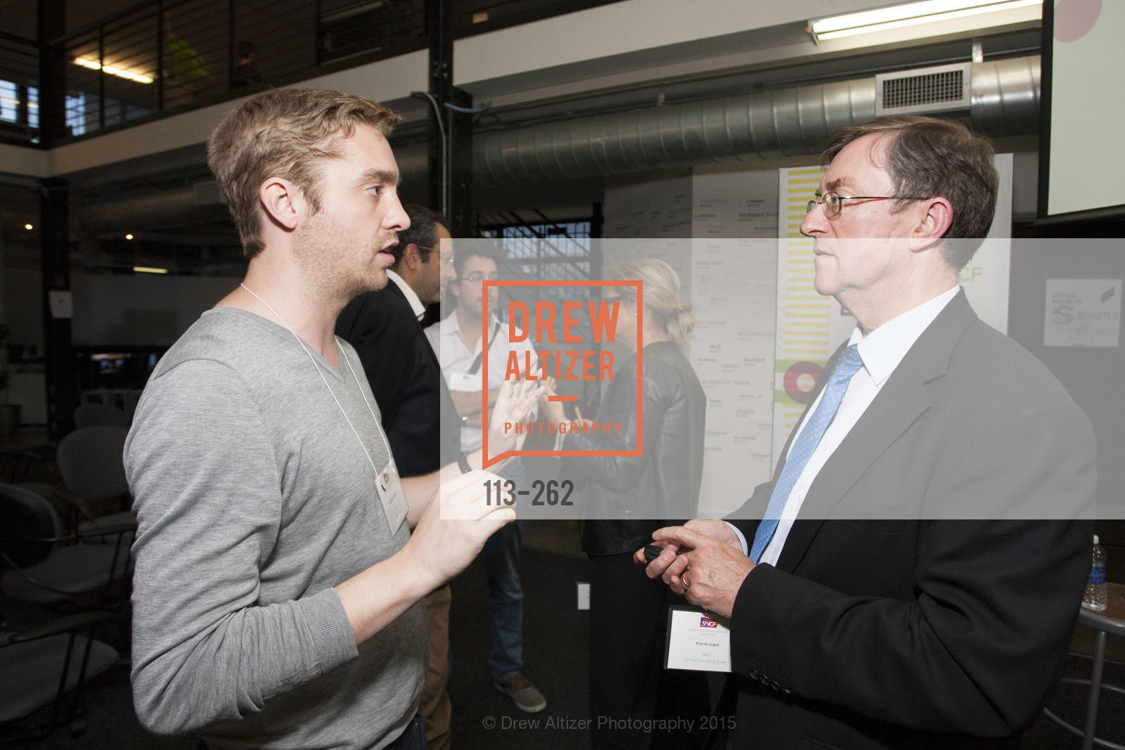 Baptiste Manson, Pierre Izard, Inauguration of SNCF Innovation Lab, 169 11th St, August 26th, 2015,Drew Altizer, Drew Altizer Photography, full-service agency, private events, San Francisco photographer, photographer california