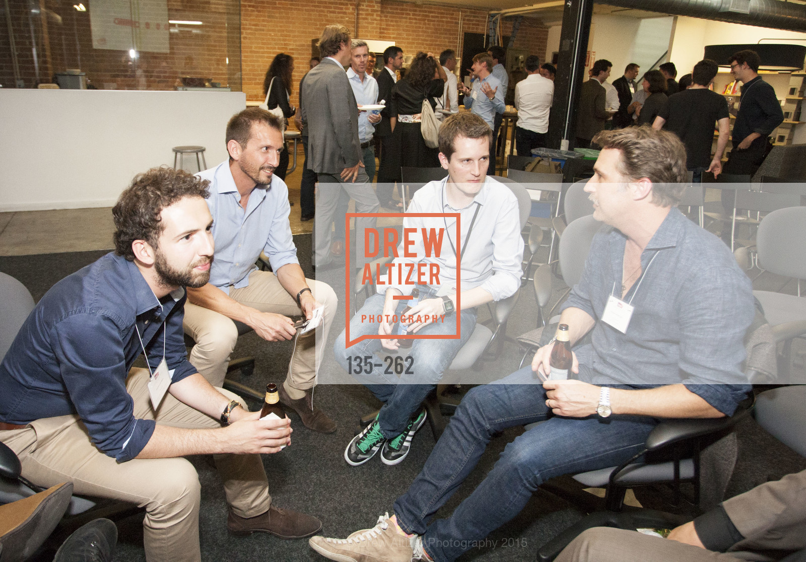 Hocine Lourdani, Philippe Perez, Kevin Smouts, Brogan BamBrogan, Inauguration of SNCF Innovation Lab, 169 11th St, August 26th, 2015,Drew Altizer, Drew Altizer Photography, full-service agency, private events, San Francisco photographer, photographer california