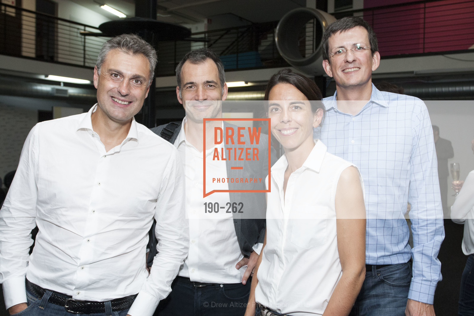 Yves Tyrode, Philippe Plichon, Emmanuelle Turlotte, Vincent Delamarre, Inauguration of SNCF Innovation Lab, 169 11th St, August 26th, 2015,Drew Altizer, Drew Altizer Photography, full-service agency, private events, San Francisco photographer, photographer california