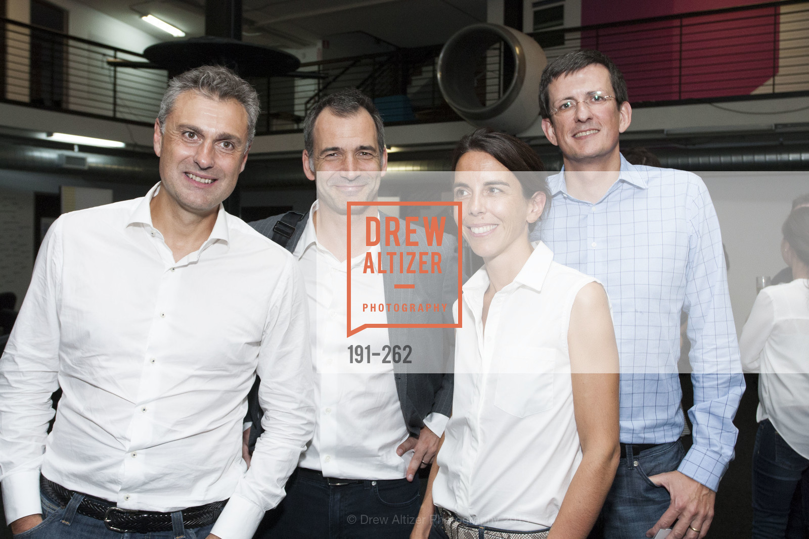 Yves Tyrode, Philippe Plichon, Emmanuelle Turlotte, Vincent Delamarre, Inauguration of SNCF Innovation Lab, 169 11th St, August 26th, 2015