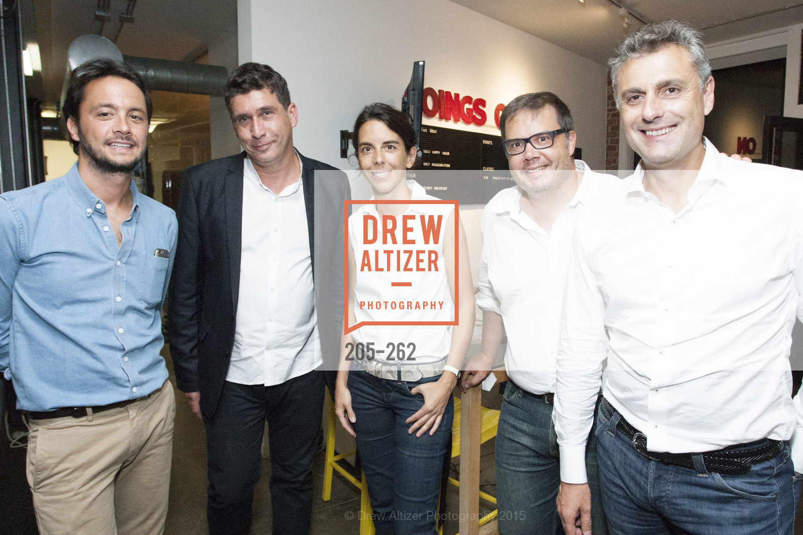 Florent Peyre, Dominique Piotet, Emmanuelle Turlotte, Gregory Renard, Yves Tyrode, Inauguration of SNCF Innovation Lab, 169 11th St, August 26th, 2015,Drew Altizer, Drew Altizer Photography, full-service agency, private events, San Francisco photographer, photographer california