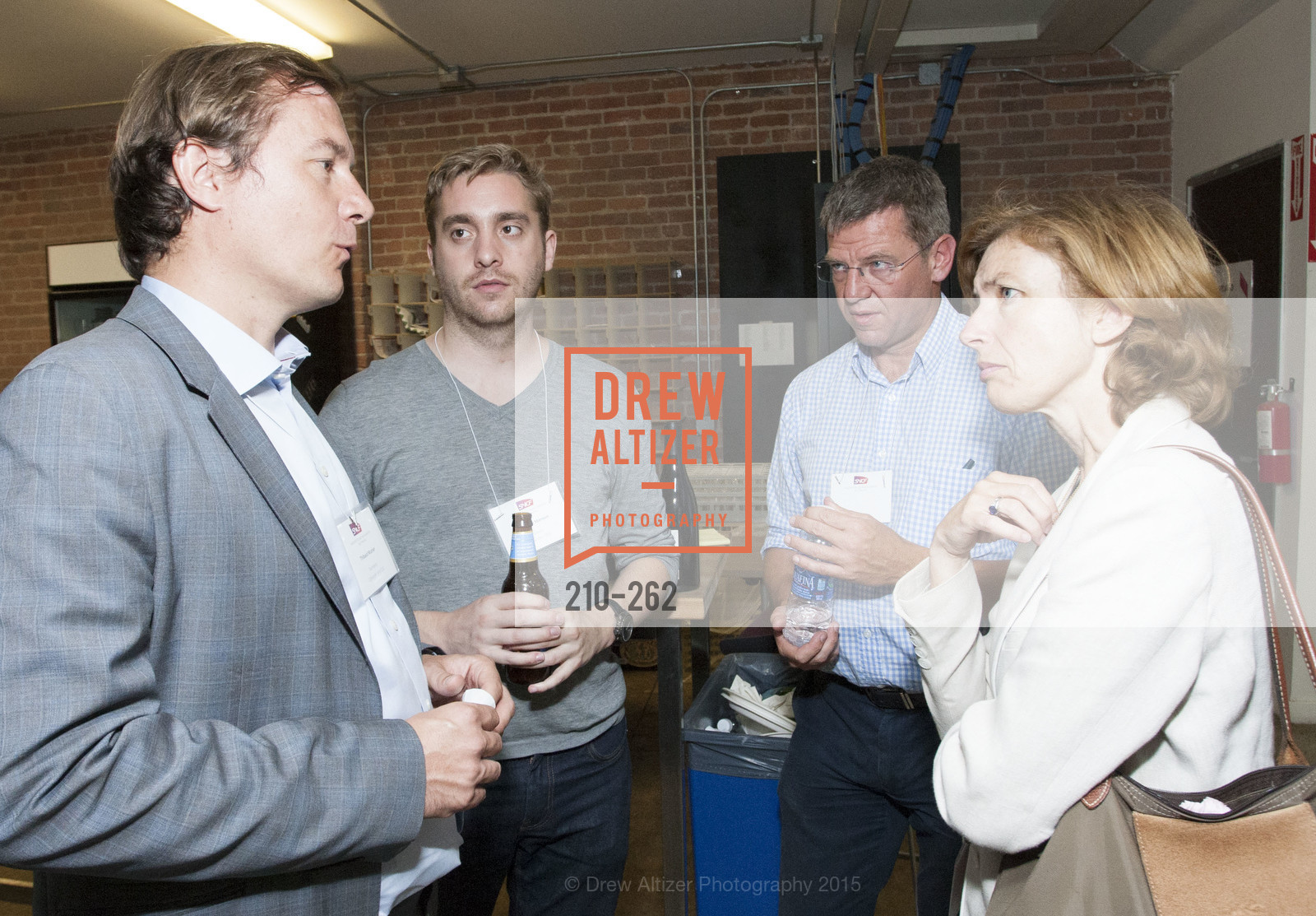 Thibaut Munier, Baptiste Manson, Ivan Ollivier, Florence Parly, Inauguration of SNCF Innovation Lab, 169 11th St, August 26th, 2015,Drew Altizer, Drew Altizer Photography, full-service agency, private events, San Francisco photographer, photographer california