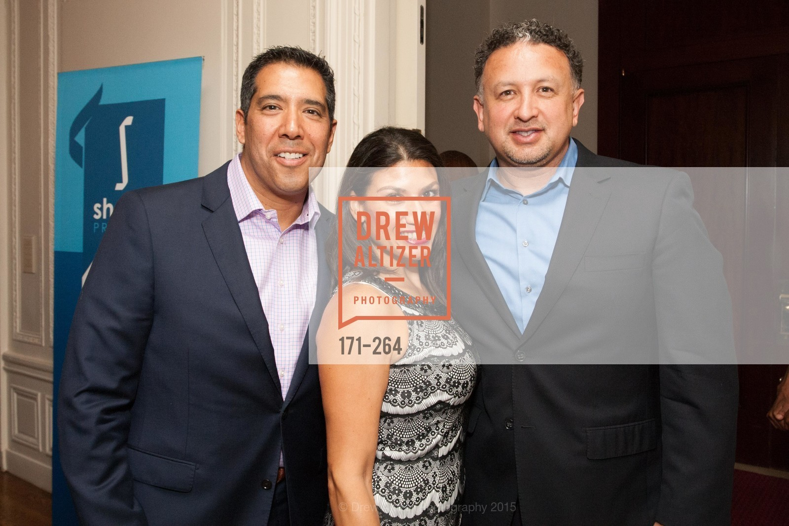 Alex Rivera, Claudia Rivera, Miguel Bustos, Shanti's Compassion is Universal 41st Anniversary Preview Reception, Palace Hotel. 2 Montgomery Street, August 25th, 2015,Drew Altizer, Drew Altizer Photography, full-service agency, private events, San Francisco photographer, photographer california