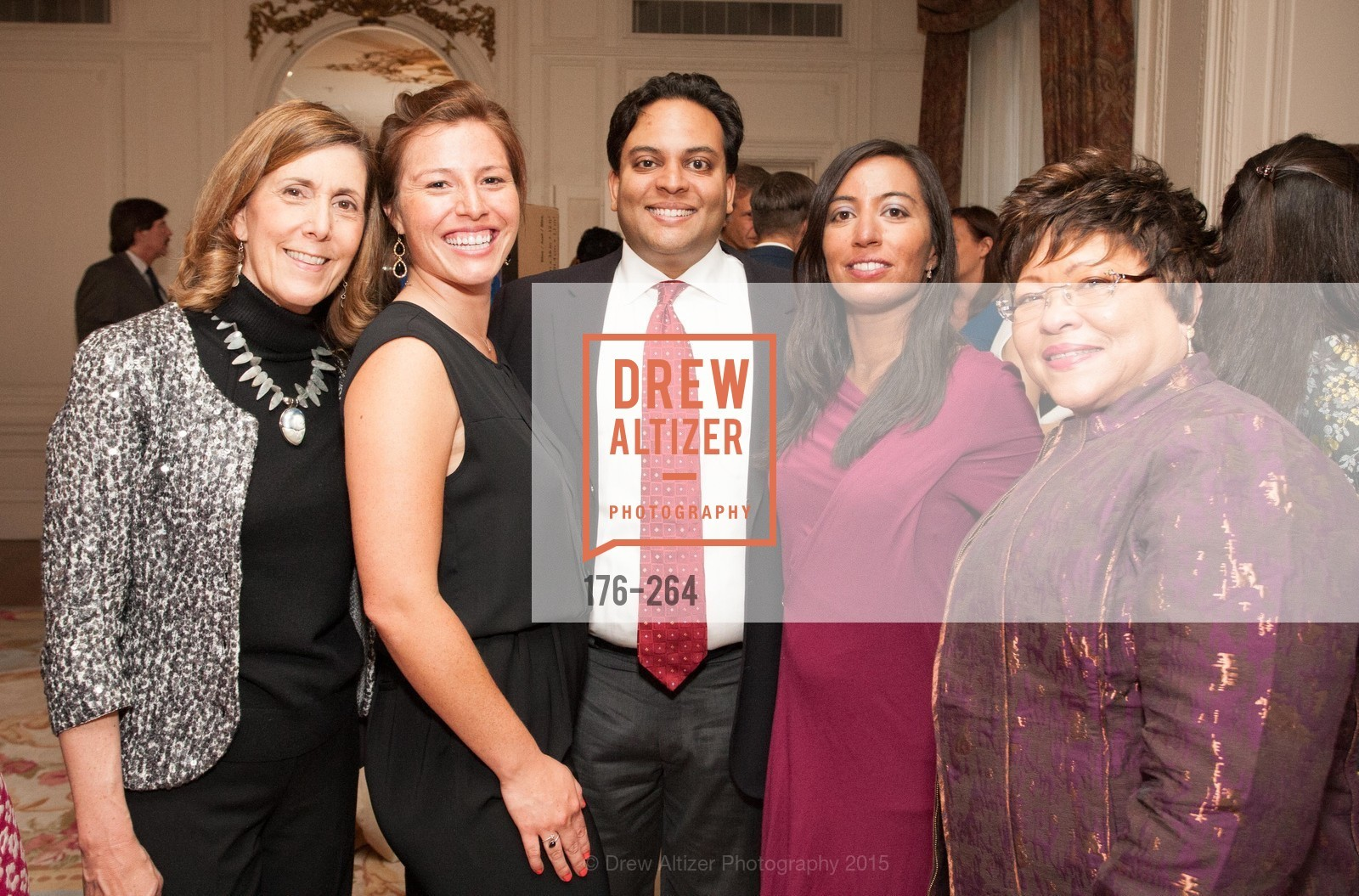 Micki Klearman, Lauren Villa, Kaushik Roy, Nisha Trivedi, Cecilia Thomas, Shanti's Compassion is Universal 41st Anniversary Preview Reception, Palace Hotel. 2 Montgomery Street, August 25th, 2015,Drew Altizer, Drew Altizer Photography, full-service event agency, private events, San Francisco photographer, photographer California