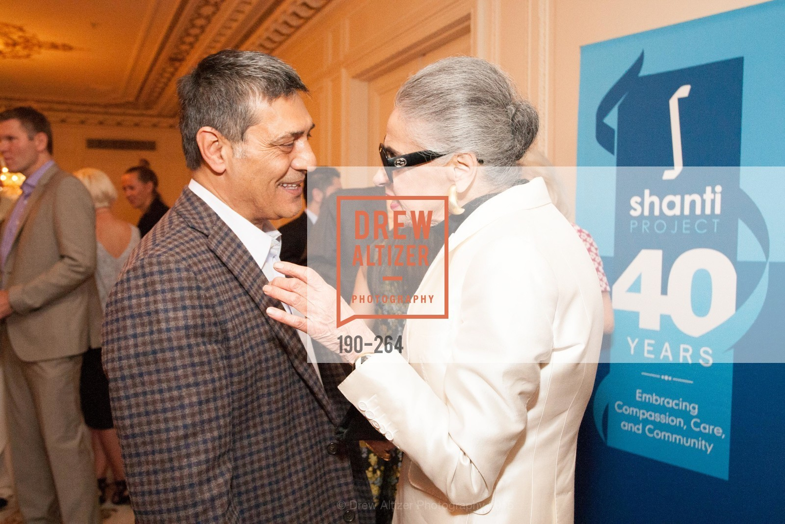 Gus Murad, Joy Venturini Bianchi, Shanti's Compassion is Universal 41st Anniversary Preview Reception, Palace Hotel. 2 Montgomery Street, August 25th, 2015,Drew Altizer, Drew Altizer Photography, full-service agency, private events, San Francisco photographer, photographer california