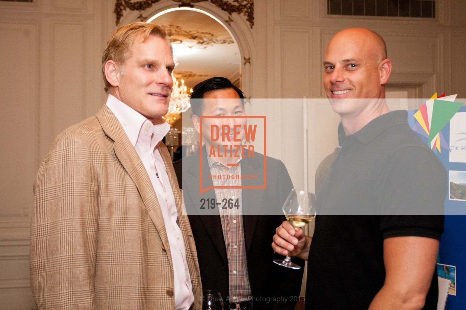 Bryan McKay, Robert Lee, Tyson Bell, Shanti's Compassion is Universal 41st Anniversary Preview Reception, Palace Hotel. 2 Montgomery Street, August 25th, 2015,Drew Altizer, Drew Altizer Photography, full-service agency, private events, San Francisco photographer, photographer california