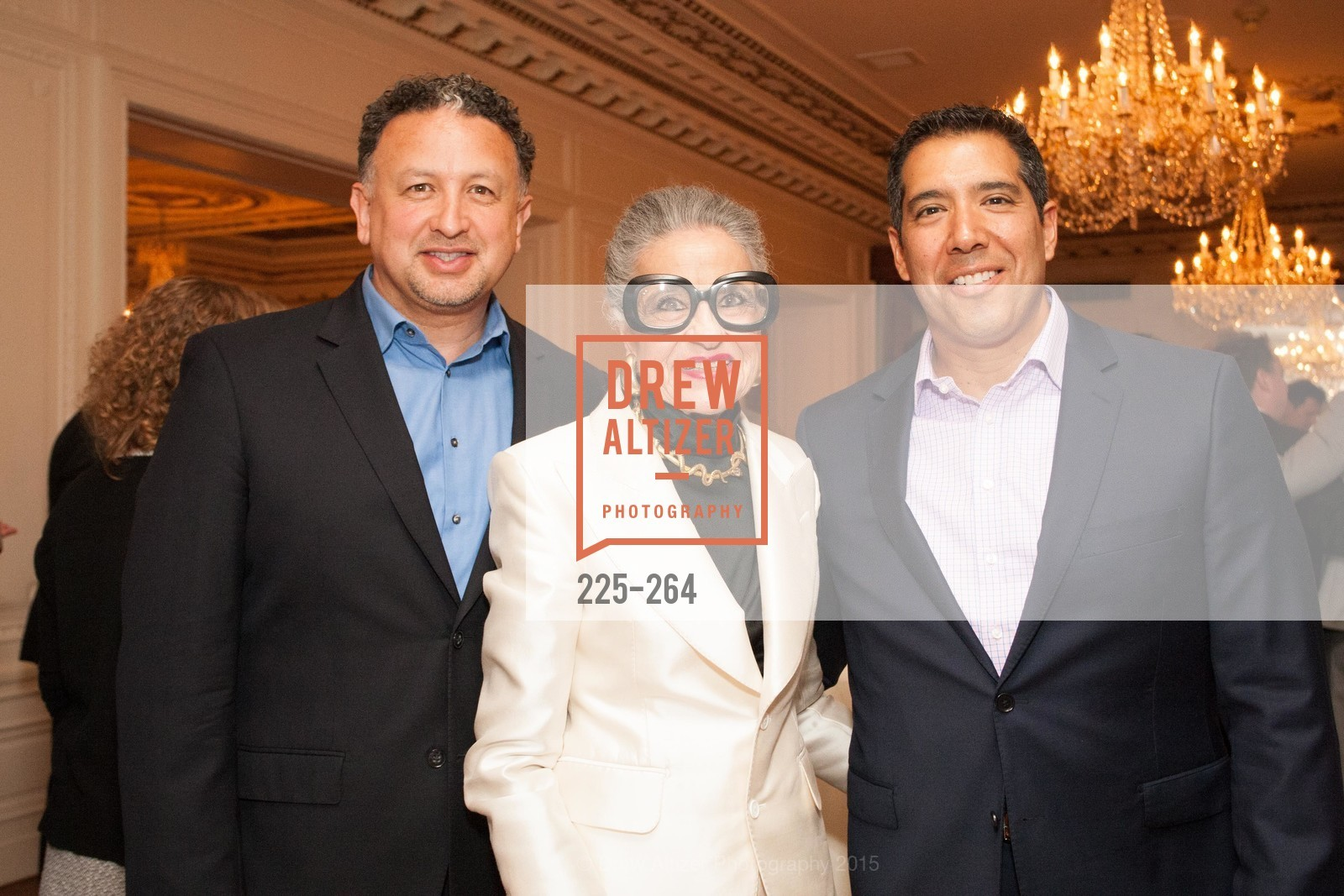 Miguel Bustos, Joy Venturini Bianchi, Alex Rivera, Shanti's Compassion is Universal 41st Anniversary Preview Reception, Palace Hotel. 2 Montgomery Street, August 25th, 2015,Drew Altizer, Drew Altizer Photography, full-service agency, private events, San Francisco photographer, photographer california