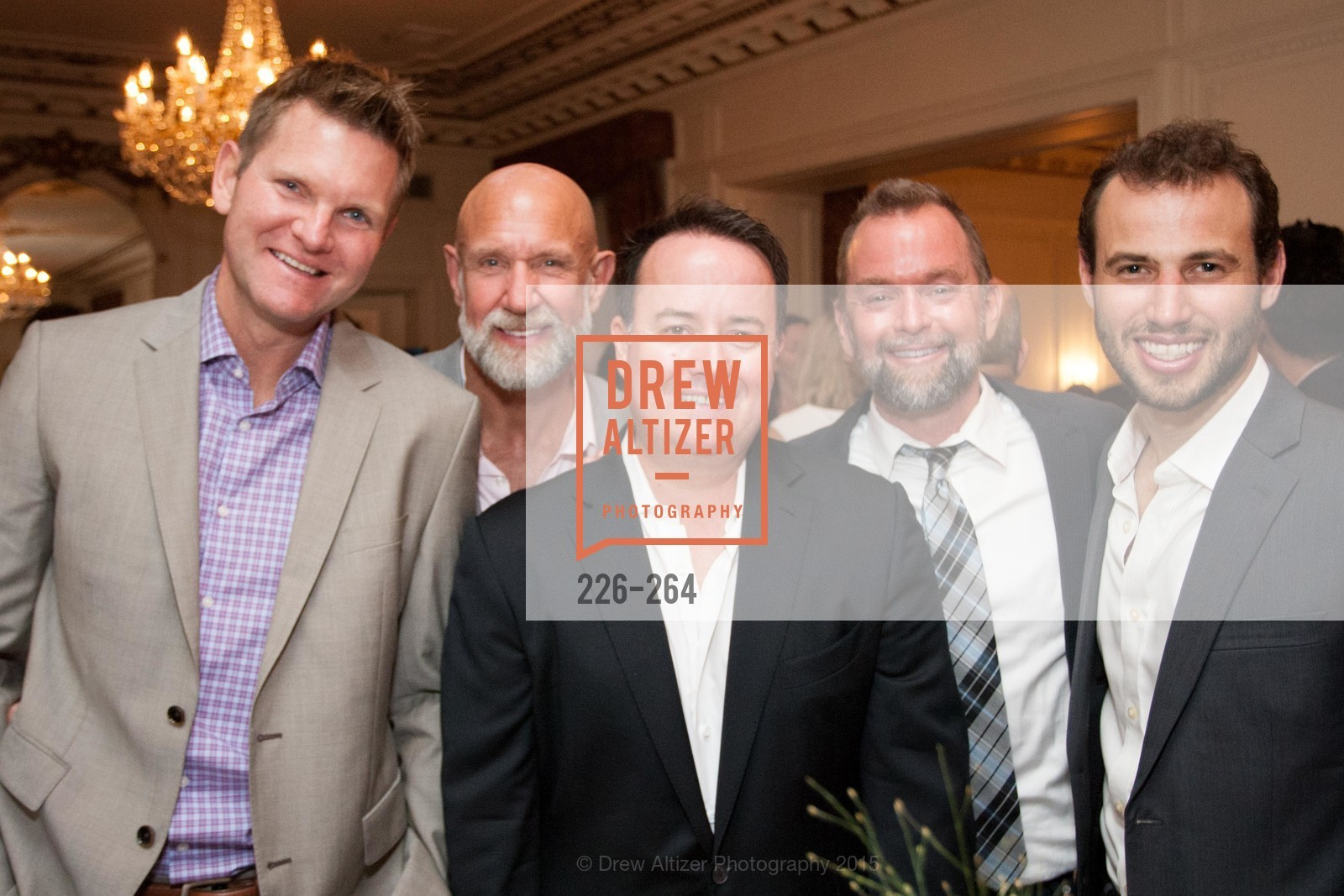 Don Jorgensen, Frank Petkovich, Shane Hensinger, Mike Hickey, Daniel Sparks, Shanti's Compassion is Universal 41st Anniversary Preview Reception, Palace Hotel. 2 Montgomery Street, August 25th, 2015,Drew Altizer, Drew Altizer Photography, full-service event agency, private events, San Francisco photographer, photographer California