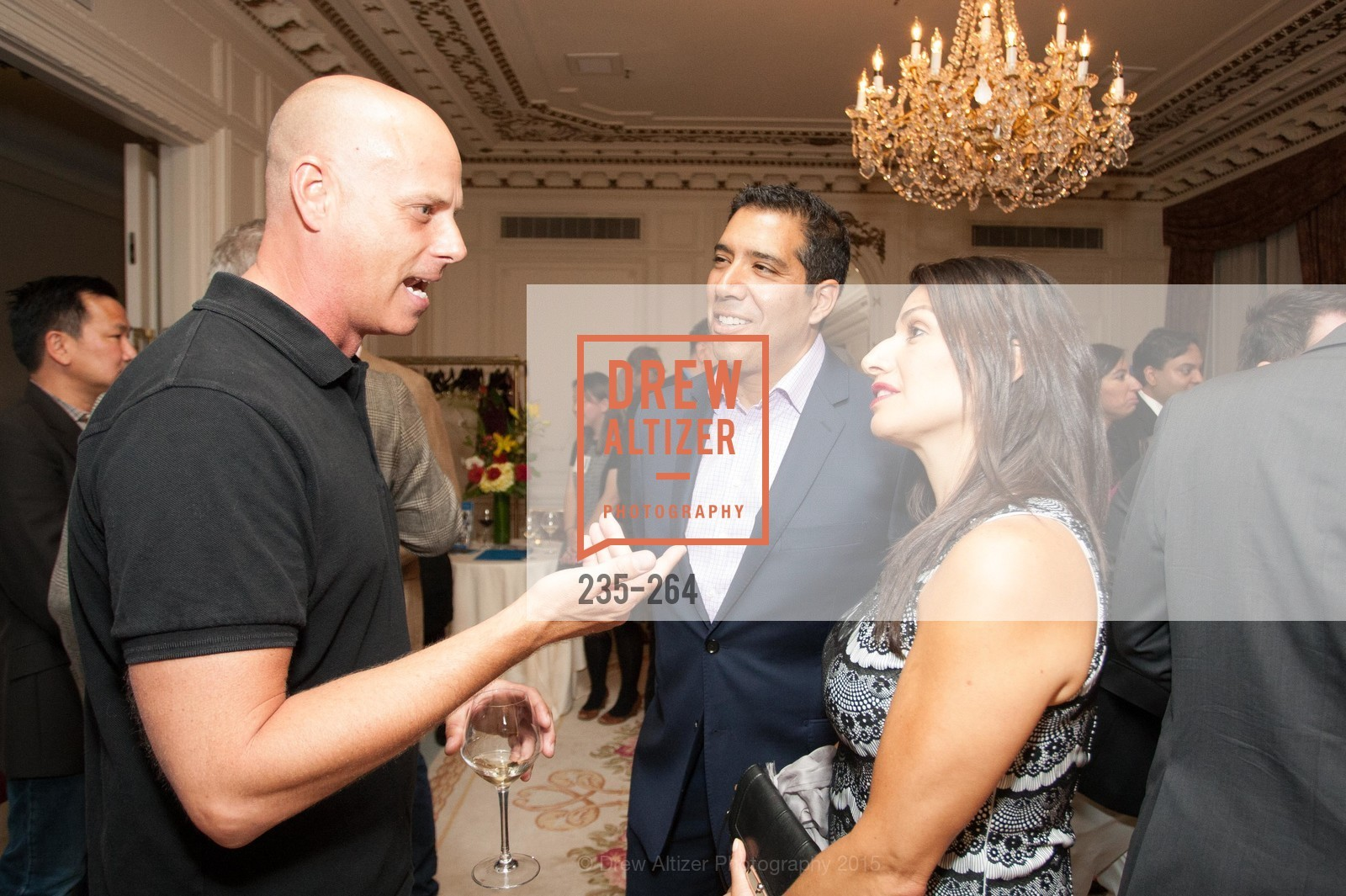Tyson Bell, Alex Rivera, Claudia Rivera, Shanti's Compassion is Universal 41st Anniversary Preview Reception, Palace Hotel. 2 Montgomery Street, August 25th, 2015,Drew Altizer, Drew Altizer Photography, full-service agency, private events, San Francisco photographer, photographer california