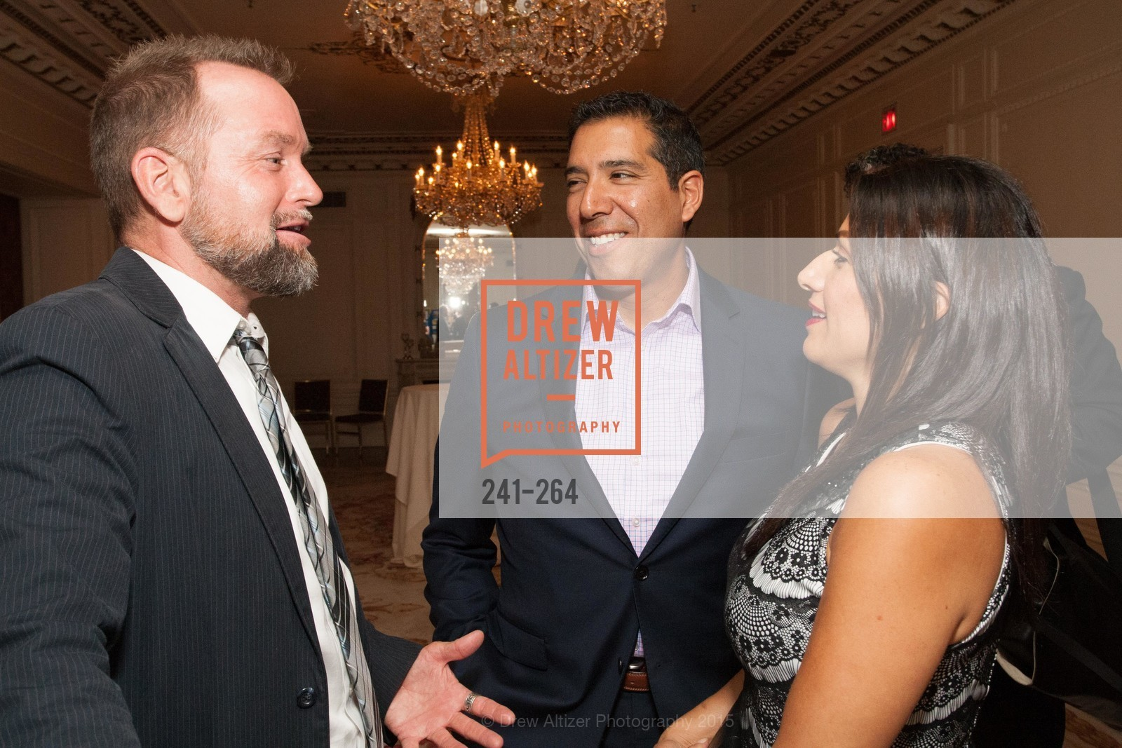 Mike Hickey, Alex Rivera, Claudia Rivera, Shanti's Compassion is Universal 41st Anniversary Preview Reception, Palace Hotel. 2 Montgomery Street, August 25th, 2015,Drew Altizer, Drew Altizer Photography, full-service agency, private events, San Francisco photographer, photographer california