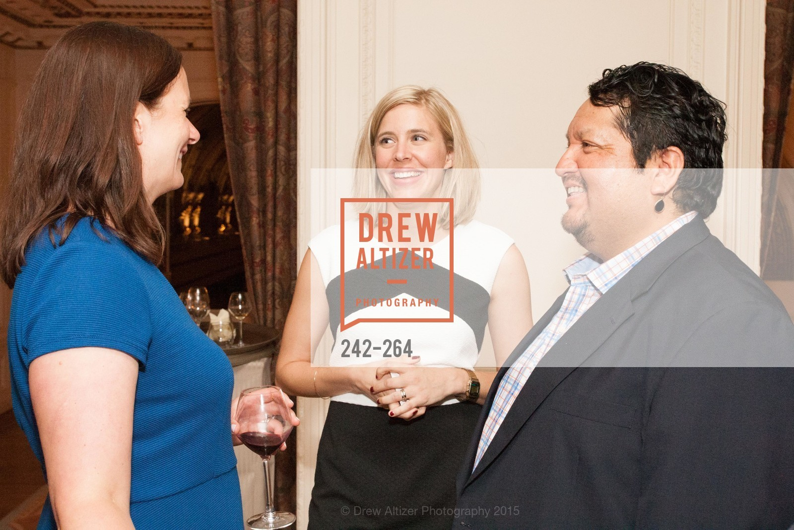 Angie Murphy, Mindy Schweitzer-Rawls, Valentin Aguirre, Shanti's Compassion is Universal 41st Anniversary Preview Reception, Palace Hotel. 2 Montgomery Street, August 25th, 2015,Drew Altizer, Drew Altizer Photography, full-service agency, private events, San Francisco photographer, photographer california