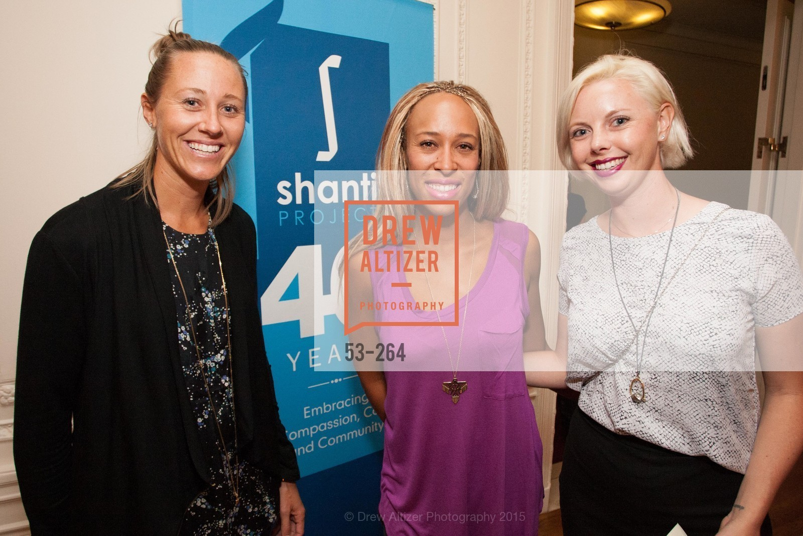 Kady Pooler, Charlotte Scatliffe, Kristen Heller, Shanti's Compassion is Universal 41st Anniversary Preview Reception, Palace Hotel. 2 Montgomery Street, August 25th, 2015,Drew Altizer, Drew Altizer Photography, full-service agency, private events, San Francisco photographer, photographer california