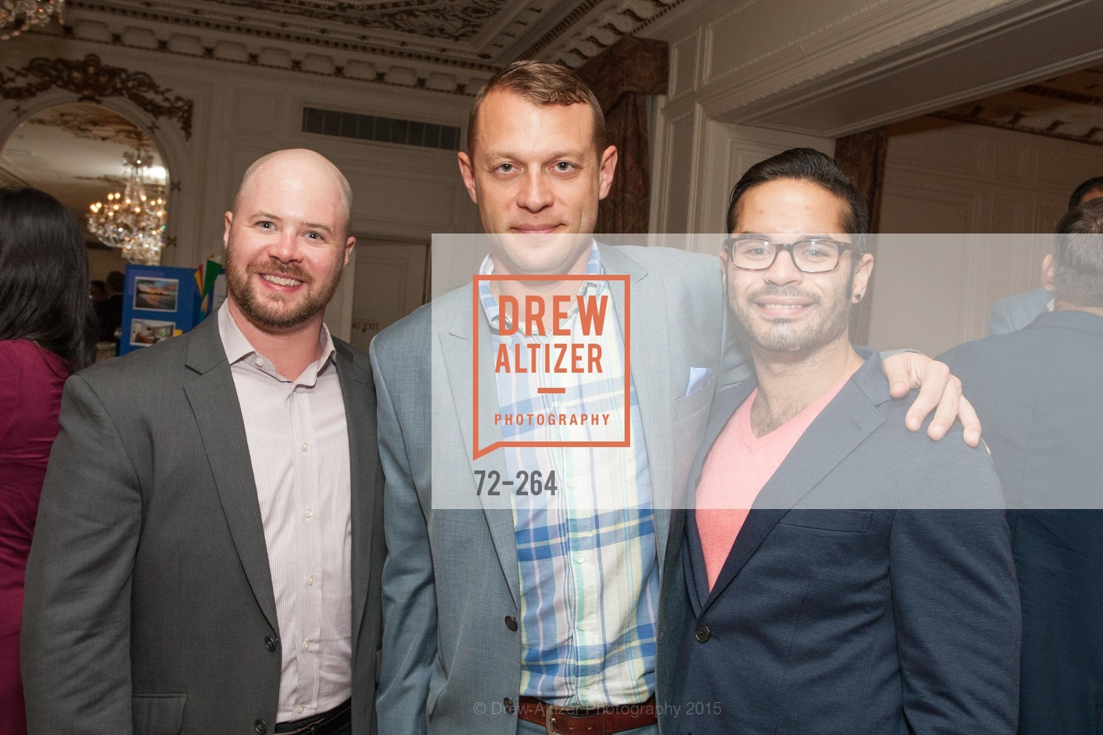 Jackson Bowman, Edward Dzialo, Walter Gomez, Shanti's Compassion is Universal 41st Anniversary Preview Reception, Palace Hotel. 2 Montgomery Street, August 25th, 2015,Drew Altizer, Drew Altizer Photography, full-service agency, private events, San Francisco photographer, photographer california