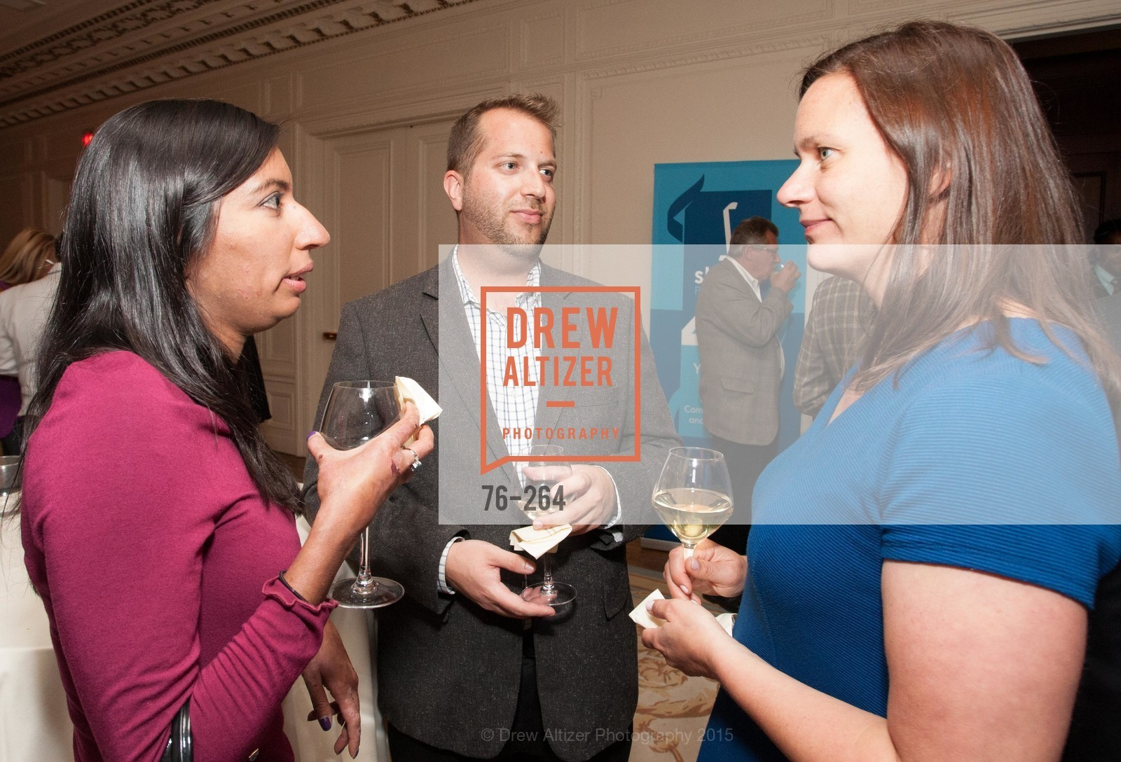 Nisha Trivedi, Robert Edmondson, Angie Murphy, Shanti's Compassion is Universal 41st Anniversary Preview Reception, Palace Hotel. 2 Montgomery Street, August 25th, 2015,Drew Altizer, Drew Altizer Photography, full-service agency, private events, San Francisco photographer, photographer california