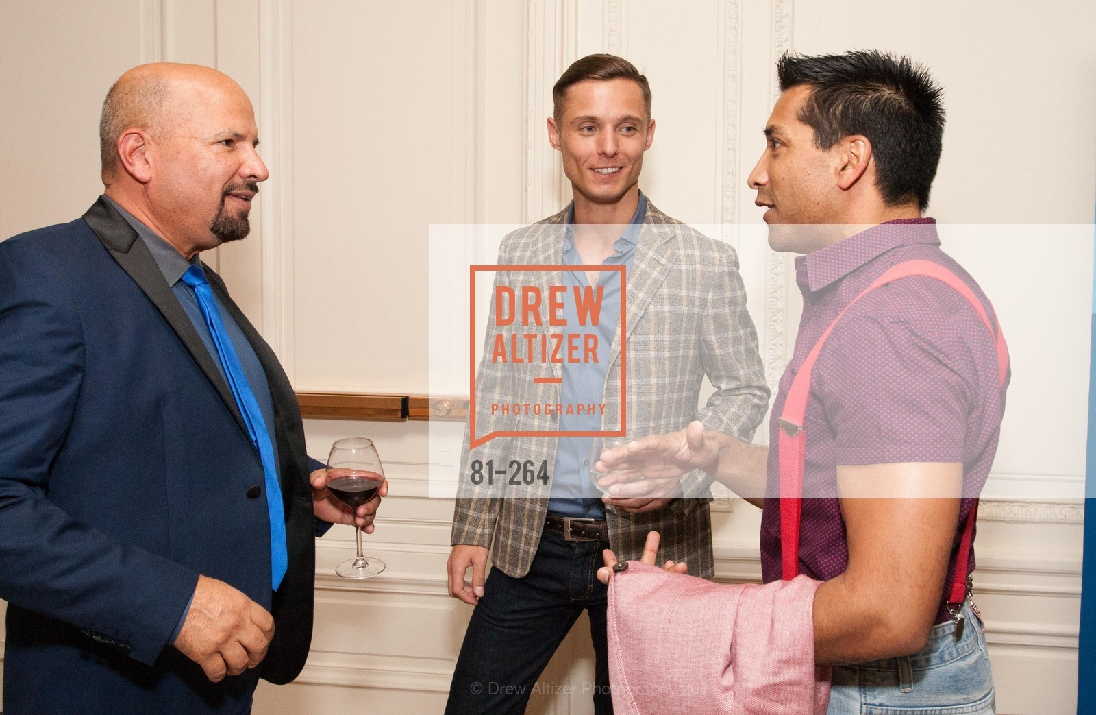 Ted Hannig, Charlie Smith, Arun Apte, Shanti's Compassion is Universal 41st Anniversary Preview Reception, Palace Hotel. 2 Montgomery Street, August 25th, 2015,Drew Altizer, Drew Altizer Photography, full-service agency, private events, San Francisco photographer, photographer california
