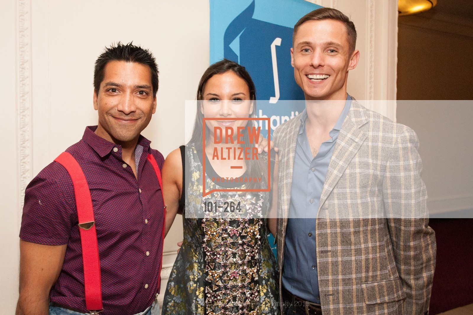 Arun Apte, Bahya Oumil-Murad, Charlie Smith, Shanti's Compassion is Universal 41st Anniversary Preview Reception, Palace Hotel. 2 Montgomery Street, August 25th, 2015,Drew Altizer, Drew Altizer Photography, full-service agency, private events, San Francisco photographer, photographer california