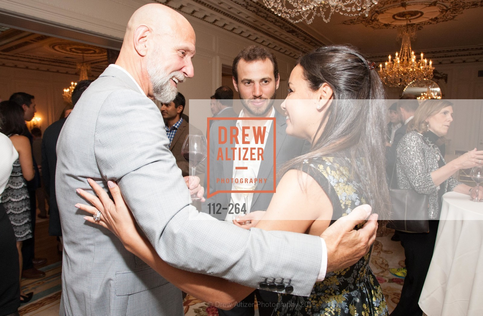 Frank Petkovich, Daniel Sparks, Bahya Oumil-Murad, Shanti's Compassion is Universal 41st Anniversary Preview Reception, Palace Hotel. 2 Montgomery Street, August 25th, 2015,Drew Altizer, Drew Altizer Photography, full-service event agency, private events, San Francisco photographer, photographer California
