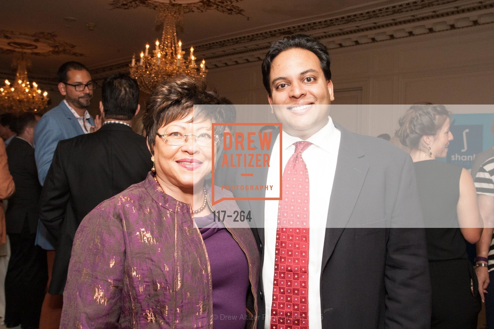 Cecilia Thomas, Kaushik Roy, Shanti's Compassion is Universal 41st Anniversary Preview Reception, Palace Hotel. 2 Montgomery Street, August 25th, 2015,Drew Altizer, Drew Altizer Photography, full-service agency, private events, San Francisco photographer, photographer california
