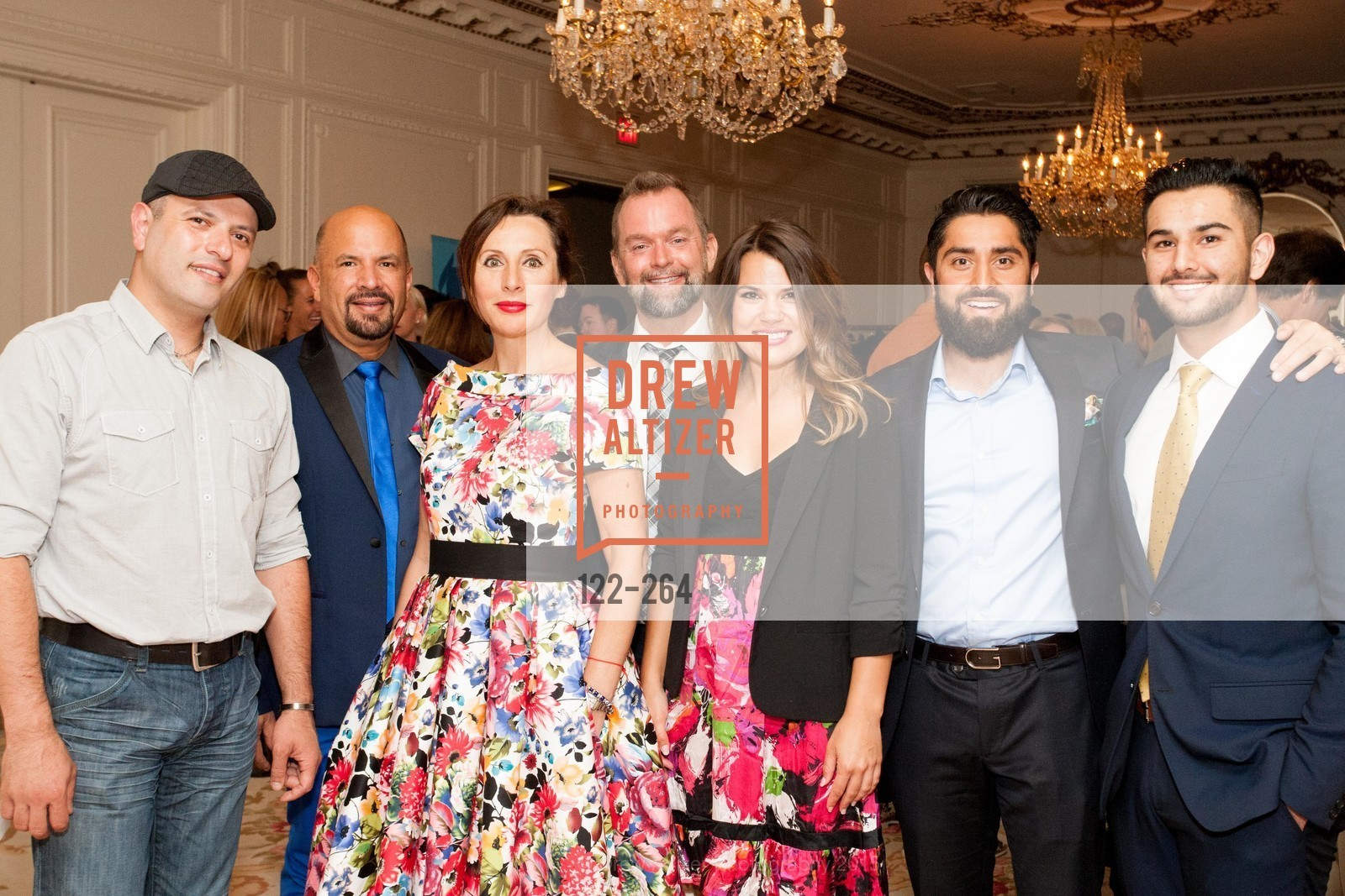 David Kassouf, Ted Hannig, Clara Shayevich, Mike Hickey, Melody Bartholomew, Roh Habibi, Obeid Habibi, Shanti's Compassion is Universal 41st Anniversary Preview Reception, Palace Hotel. 2 Montgomery Street, August 25th, 2015,Drew Altizer, Drew Altizer Photography, full-service agency, private events, San Francisco photographer, photographer california