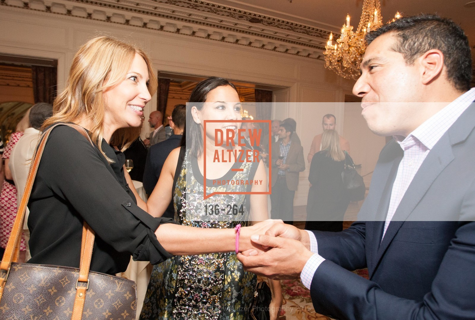 Karin Johnston, Bahya Oumil-Murad, Alex Rivera, Shanti's Compassion is Universal 41st Anniversary Preview Reception, Palace Hotel. 2 Montgomery Street, August 25th, 2015