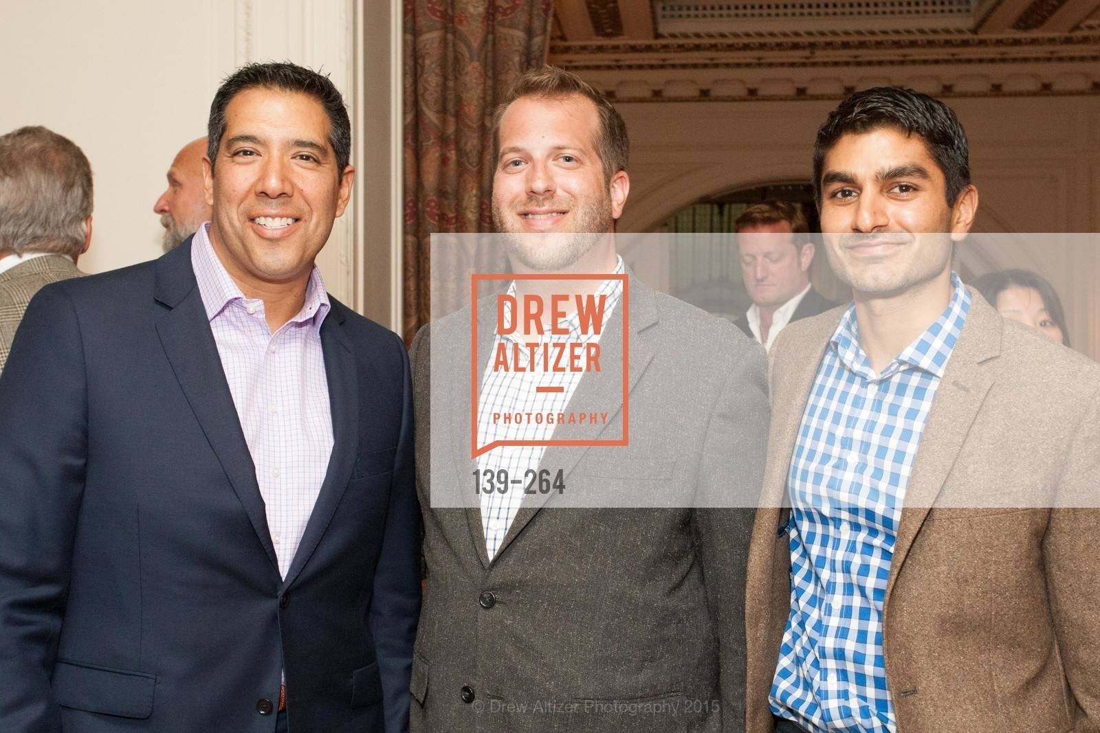 Alex Rivera, Robert Edmondson, Amit Patel, Shanti's Compassion is Universal 41st Anniversary Preview Reception, Palace Hotel. 2 Montgomery Street, August 25th, 2015,Drew Altizer, Drew Altizer Photography, full-service agency, private events, San Francisco photographer, photographer california