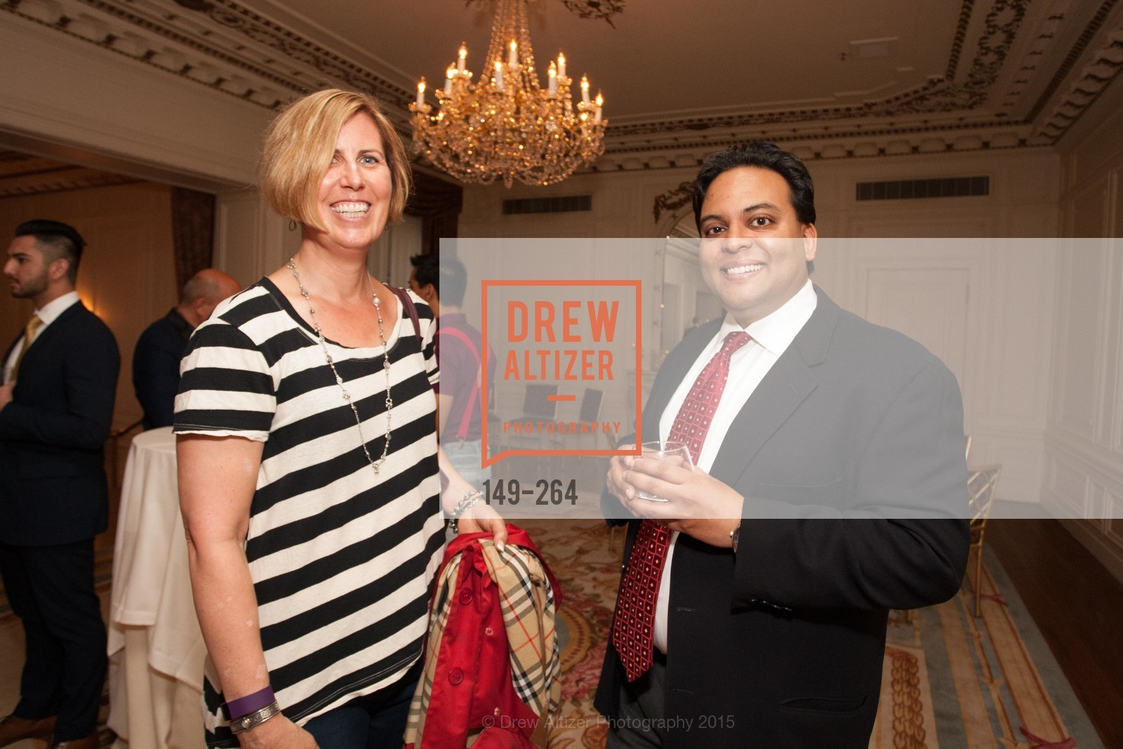 Sue Fish, Kaushik Roy, Shanti's Compassion is Universal 41st Anniversary Preview Reception, Palace Hotel. 2 Montgomery Street, August 25th, 2015,Drew Altizer, Drew Altizer Photography, full-service event agency, private events, San Francisco photographer, photographer California