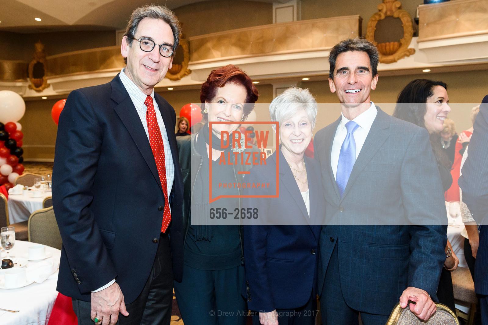Fred Levin, Helen Hilton Raiser, Nancy Livingston, Mark Leno, Photo #656-2658