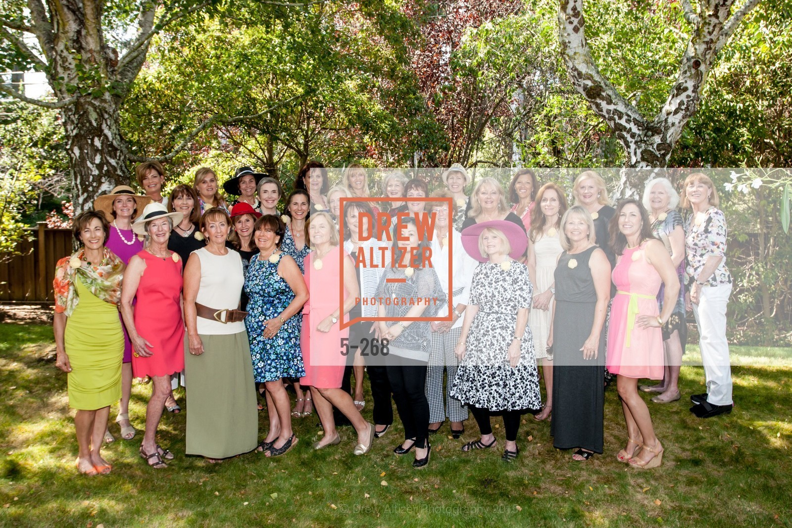 Group Picture, CASA of San Mateo County Auxiliary's Annual Garden Party, 2135 Ralston Avenue, August 30th, 2015,Drew Altizer, Drew Altizer Photography, full-service agency, private events, San Francisco photographer, photographer california