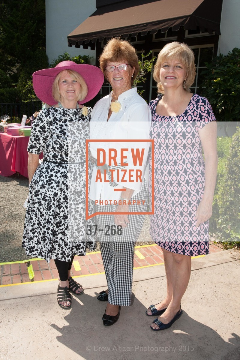 Gayle Carboni, Angie Hollman, Pat Miljanich, CASA of San Mateo County Auxiliary's Annual Garden Party, 2135 Ralston Avenue, August 30th, 2015