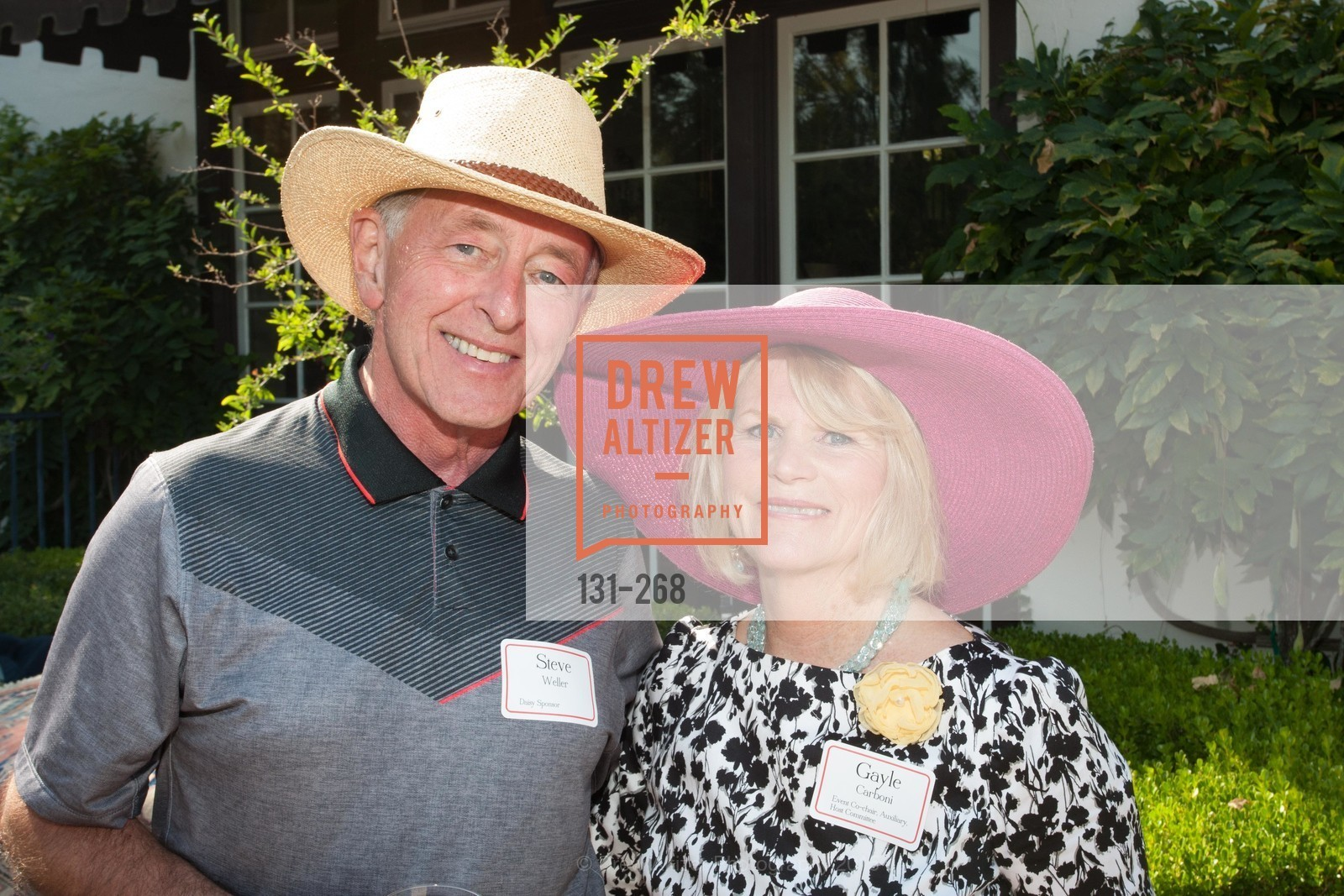 Steve Weller, Gayle Carboni, CASA of San Mateo County Auxiliary's Annual Garden Party, 2135 Ralston Avenue, August 30th, 2015,Drew Altizer, Drew Altizer Photography, full-service agency, private events, San Francisco photographer, photographer california
