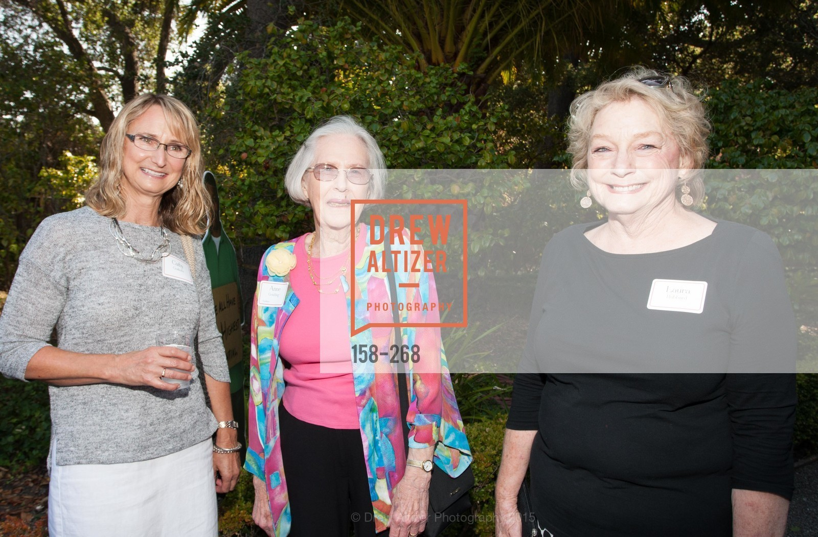 Kathy Goshorn, Anne Goulding, Laura Hubbard, CASA of San Mateo County Auxiliary's Annual Garden Party, 2135 Ralston Avenue, August 30th, 2015,Drew Altizer, Drew Altizer Photography, full-service agency, private events, San Francisco photographer, photographer california