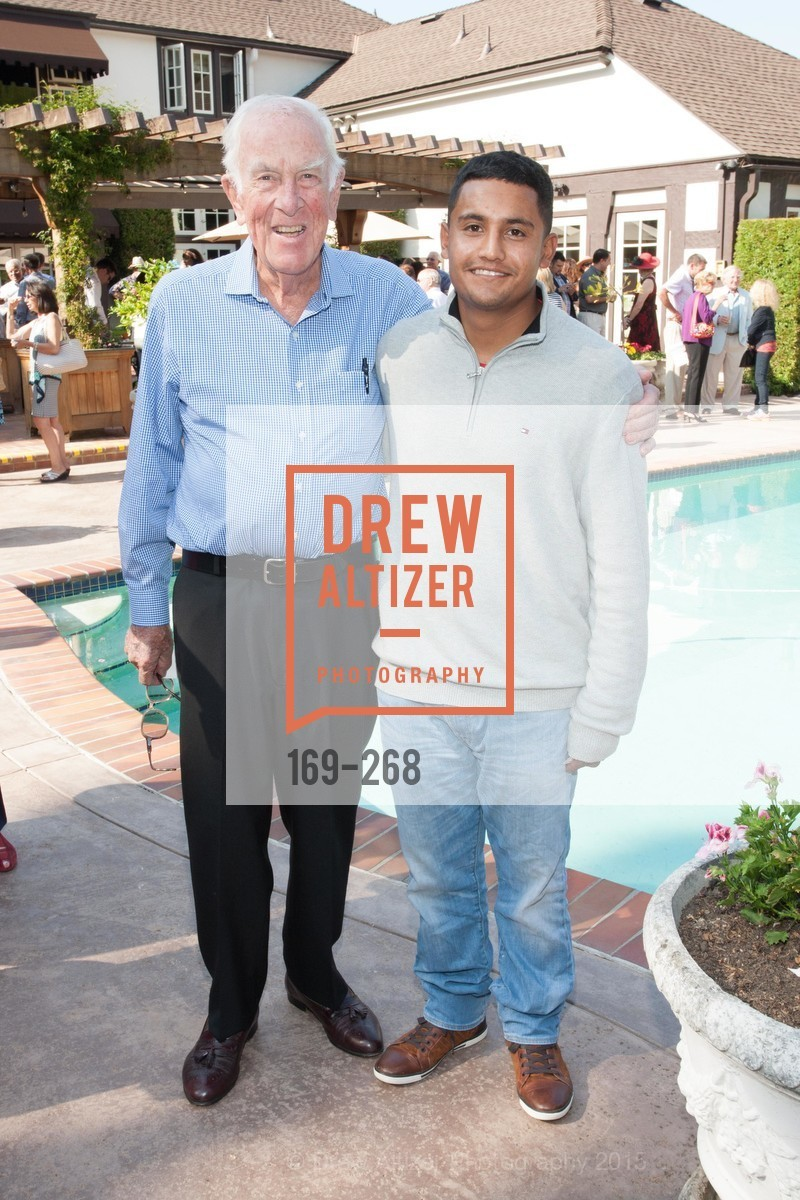 Patrick Goodenaugh, Juan Villa, CASA of San Mateo County Auxiliary's Annual Garden Party, 2135 Ralston Avenue, August 30th, 2015