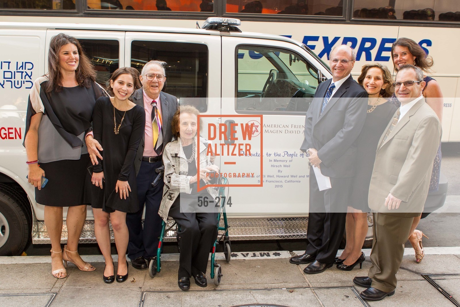 Elisa Poulos, Lori Weil, Eli Weil, Croce Weil, Howard Weil, Karen Weil, Alexia Stormo, Martin Weil, American Friends of Magen David Adom Inaugural Red Star Gala, Hilton Union Square. 333 O'Farrell St, August 30th, 2015,Drew Altizer, Drew Altizer Photography, full-service agency, private events, San Francisco photographer, photographer california