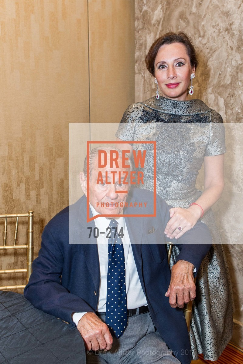 Maurice Kanbar, Clara Shayevich, American Friends of Magen David Adom Inaugural Red Star Gala, Hilton Union Square. 333 O'Farrell St, August 30th, 2015,Drew Altizer, Drew Altizer Photography, full-service agency, private events, San Francisco photographer, photographer california