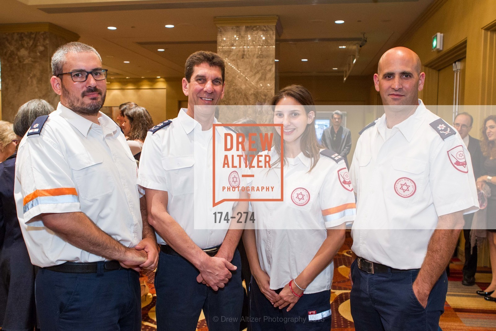 Oren Wacht, Eli Bin, Tal Rabin, Alon Fridman, American Friends of Magen David Adom Inaugural Red Star Gala, Hilton Union Square. 333 O'Farrell St, August 30th, 2015,Drew Altizer, Drew Altizer Photography, full-service agency, private events, San Francisco photographer, photographer california