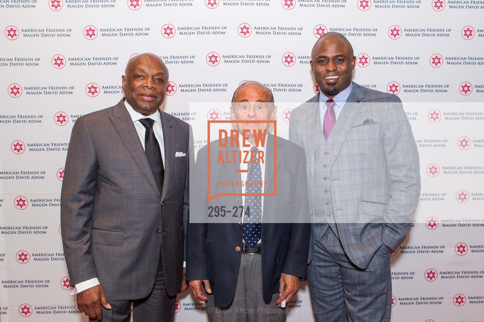 Willie Brown, Maurice Kanbar, Wayne Brady, American Friends of Magen David Adom Inaugural Red Star Gala, Hilton Union Square. 333 O'Farrell St, August 30th, 2015,Drew Altizer, Drew Altizer Photography, full-service agency, private events, San Francisco photographer, photographer california