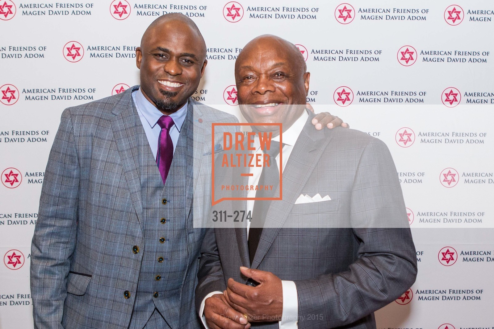 Wayne Brady, Willie Brown, American Friends of Magen David Adom Inaugural Red Star Gala, Hilton Union Square. 333 O'Farrell St, August 30th, 2015,Drew Altizer, Drew Altizer Photography, full-service agency, private events, San Francisco photographer, photographer california