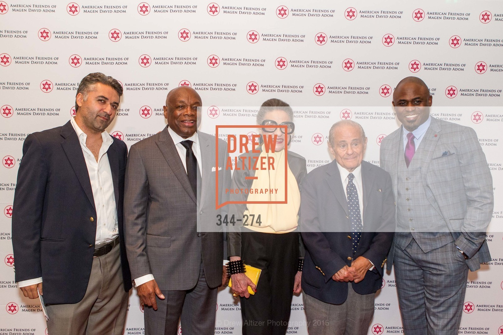 Hooman Khalili, Willie Brown, Joy Venturini Bianchi, Maurice Kanbar, Wayne Brady, American Friends of Magen David Adom Inaugural Red Star Gala, Hilton Union Square. 333 O'Farrell St, August 30th, 2015,Drew Altizer, Drew Altizer Photography, full-service agency, private events, San Francisco photographer, photographer california