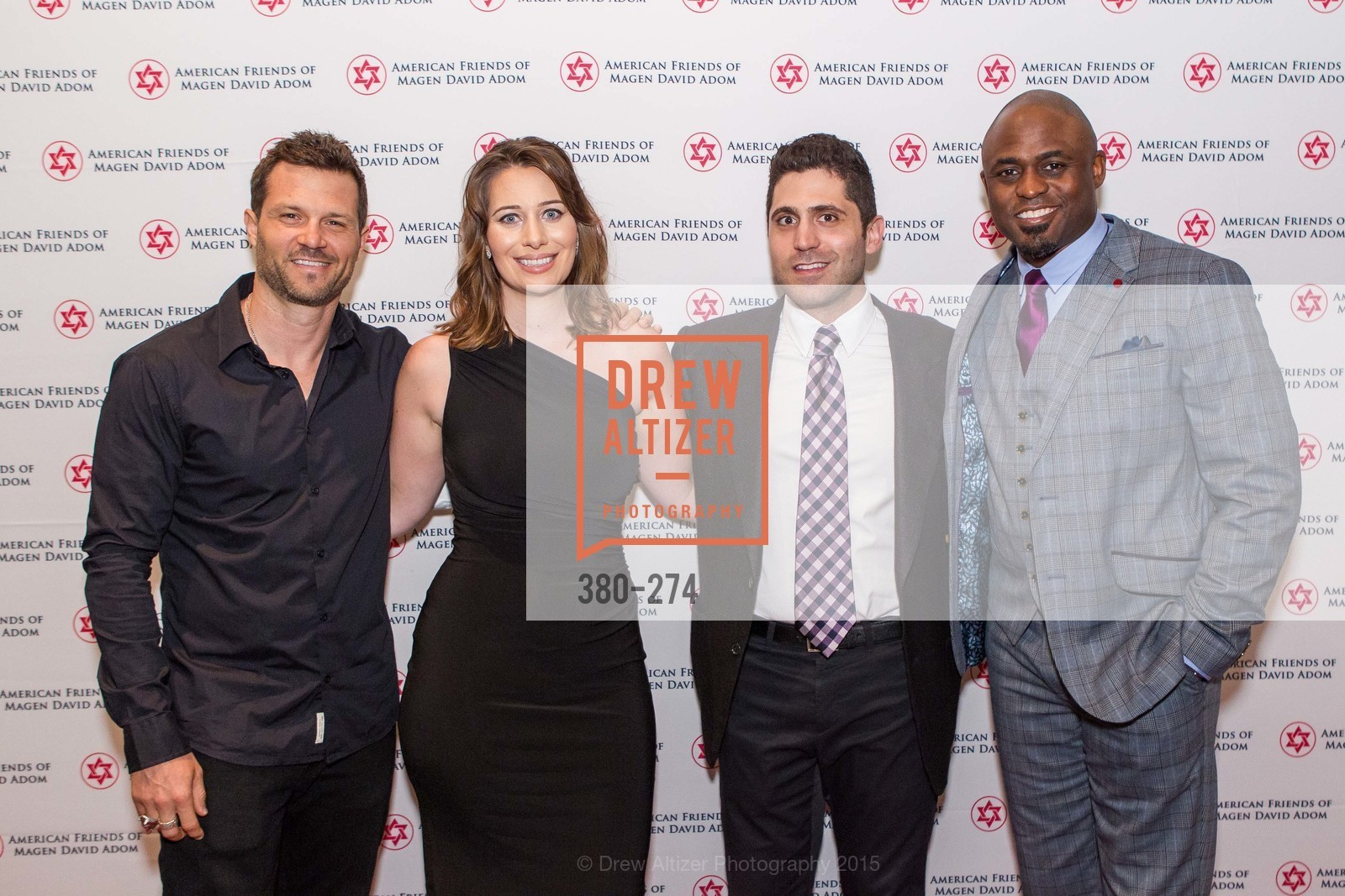 In-Q, Brooke Spencer, Lior Tamir, Wayne Brady, American Friends of Magen David Adom Inaugural Red Star Gala, Hilton Union Square. 333 O'Farrell St, August 30th, 2015,Drew Altizer, Drew Altizer Photography, full-service agency, private events, San Francisco photographer, photographer california