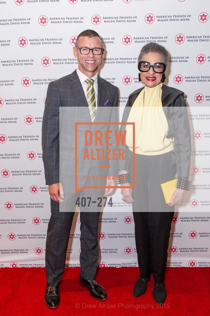 Mike Shaw, Joy Venturini Bianchi, American Friends of Magen David Adom Inaugural Red Star Gala, Hilton Union Square. 333 O'Farrell St, August 30th, 2015,Drew Altizer, Drew Altizer Photography, full-service agency, private events, San Francisco photographer, photographer california
