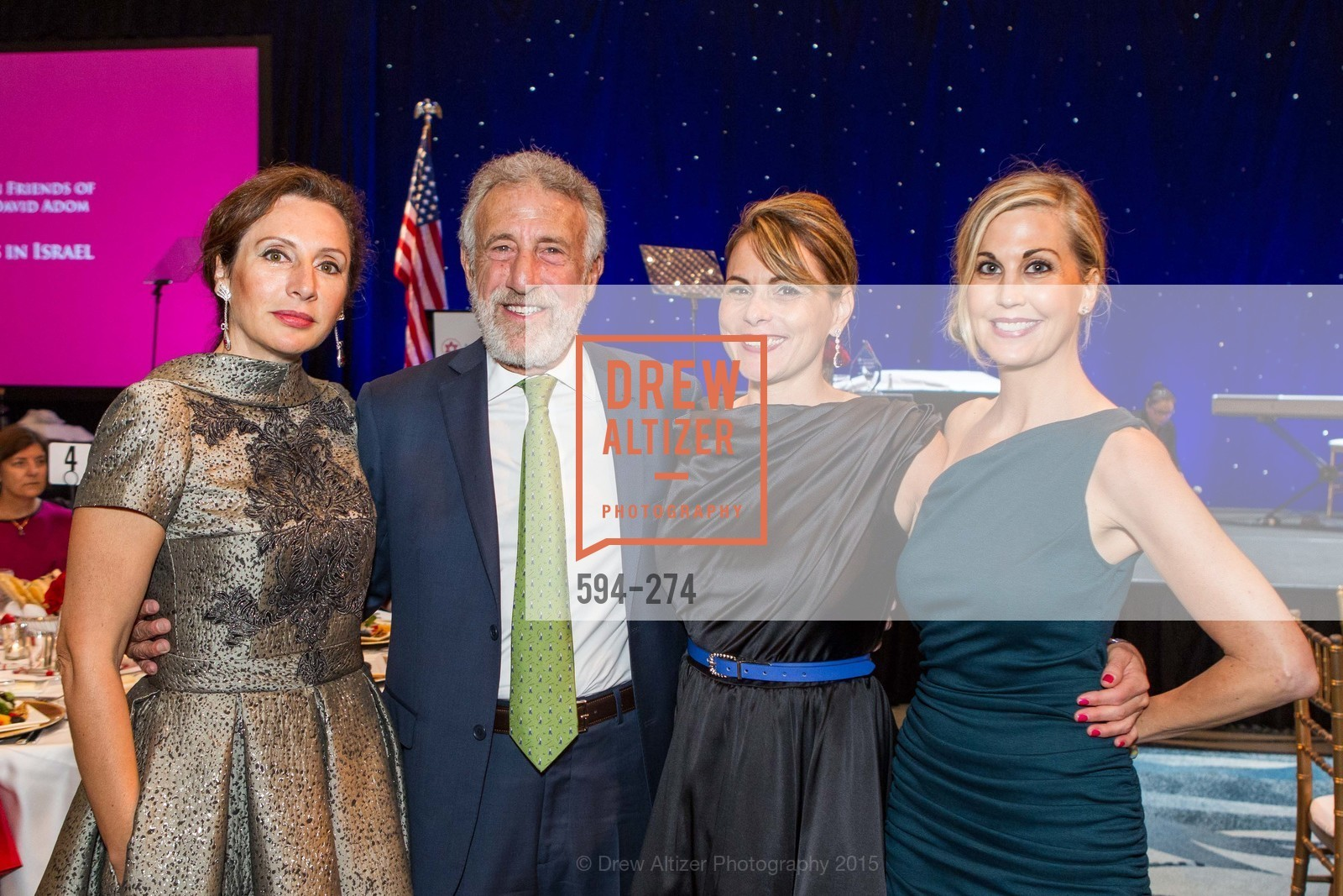 Clara Shayevich, George Zimmer, Teresa Rodriguez, Heidi Pettit, American Friends of Magen David Adom Inaugural Red Star Gala, Hilton Union Square. 333 O'Farrell St, August 30th, 2015,Drew Altizer, Drew Altizer Photography, full-service agency, private events, San Francisco photographer, photographer california